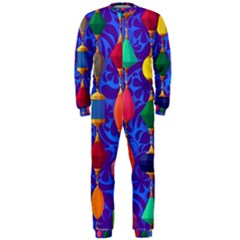 Colorful Background Stones Jewels Onepiece Jumpsuit (men)