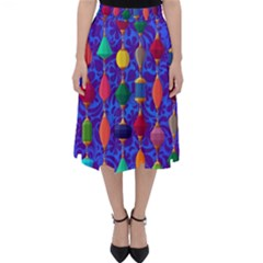 Colorful Background Stones Jewels Folding Skater Skirt