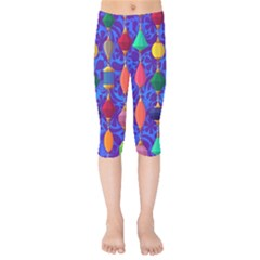 Colorful Background Stones Jewels Kids  Capri Leggings  by Nexatart