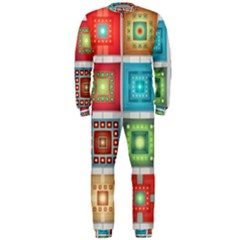 Tiles Pattern Background Colorful Onepiece Jumpsuit (men)
