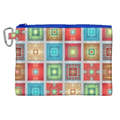 Tiles Pattern Background Colorful Canvas Cosmetic Bag (xl)