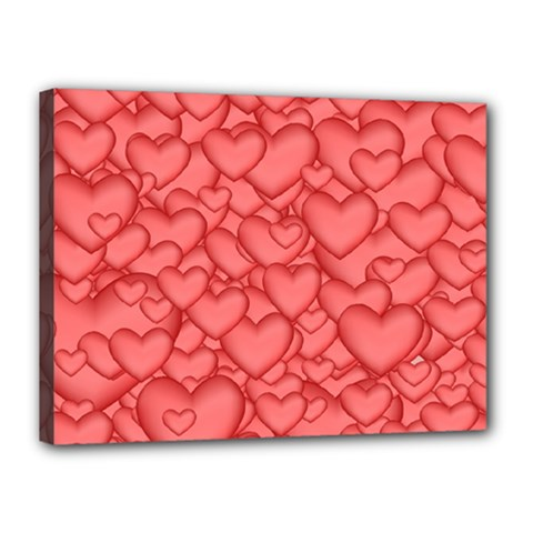 Background Hearts Love Canvas 16  X 12