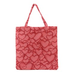 Background Hearts Love Grocery Tote Bag by Nexatart