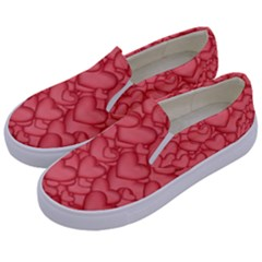 Background Hearts Love Kids  Canvas Slip Ons by Nexatart