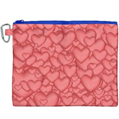 Background Hearts Love Canvas Cosmetic Bag (xxxl) by Nexatart