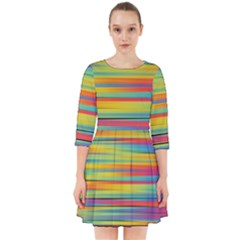 Colorful Background Smock Dress