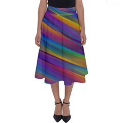 Colorful Background Perfect Length Midi Skirt