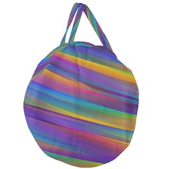 Colorful Background Giant Round Zipper Tote