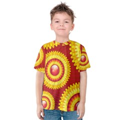 Floral Abstract Background Texture Kids  Cotton Tee