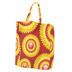 Floral Abstract Background Texture Giant Grocery Zipper Tote