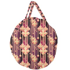 Seamless Pattern Patterns Giant Round Zipper Tote