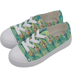 Background Landscape Surreal Kids  Low Top Canvas Sneakers by Nexatart