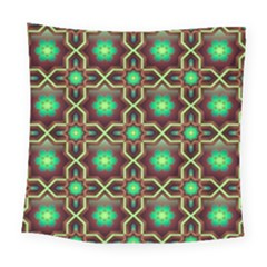 Pattern Background Bright Brown Square Tapestry (large)