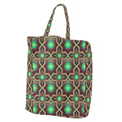 Pattern Background Bright Brown Giant Grocery Zipper Tote