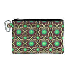 Pattern Background Bright Brown Canvas Cosmetic Bag (medium) by Nexatart