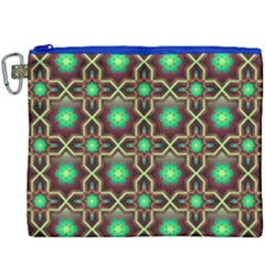 Pattern Background Bright Brown Canvas Cosmetic Bag (xxxl) by Nexatart