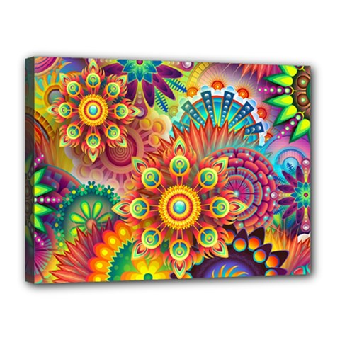 Colorful Abstract Background Colorful Canvas 16  X 12  by Nexatart