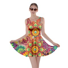 Colorful Abstract Background Colorful Skater Dress