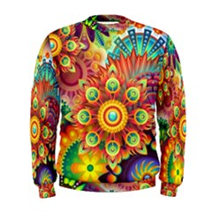 Colorful Abstract Background Colorful Men s Sweatshirt