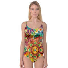 Colorful Abstract Background Colorful Camisole Leotard  by Nexatart