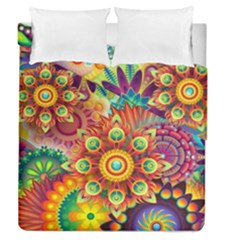 Colorful Abstract Background Colorful Duvet Cover Double Side (queen Size) by Nexatart