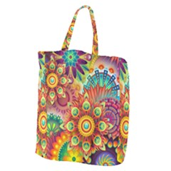 Colorful Abstract Background Colorful Giant Grocery Zipper Tote