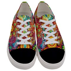 Colorful Abstract Background Colorful Women s Low Top Canvas Sneakers