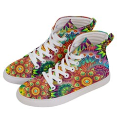 Colorful Abstract Background Colorful Men s Hi Top Skate Sneakers by Nexatart