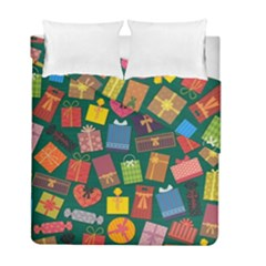 Presents Gifts Background Colorful Duvet Cover Double Side (full/ Double Size)