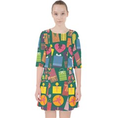 Presents Gifts Background Colorful Pocket Dress