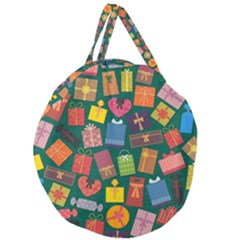 Presents Gifts Background Colorful Giant Round Zipper Tote