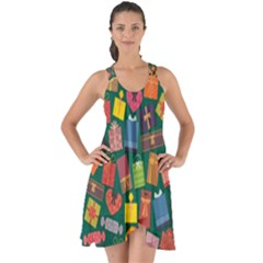 Presents Gifts Background Colorful Show Some Back Chiffon Dress by Nexatart