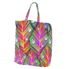 Abstract Background Colorful Leaves Giant Grocery Zipper Tote