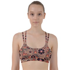 Background Floral Flower Stylised Line Them Up Sports Bra