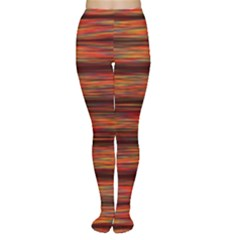 Colorful Abstract Background Strands Women s Tights