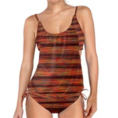 Colorful Abstract Background Strands Tankini Set