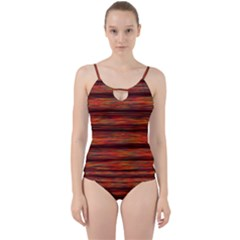 Colorful Abstract Background Strands Cut Out Top Tankini Set