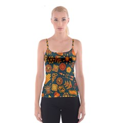 Pattern Background Ethnic Tribal Spaghetti Strap Top