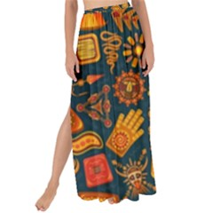 Pattern Background Ethnic Tribal Maxi Chiffon Tie Up Sarong