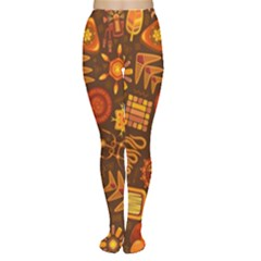 Pattern Background Ethnic Tribal Women s Tights