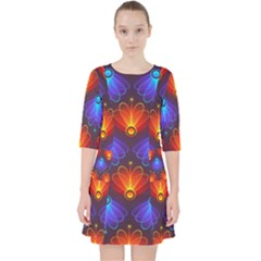 Background Colorful Abstract Pocket Dress