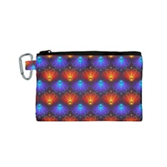 Background Colorful Abstract Canvas Cosmetic Bag (small) by Nexatart