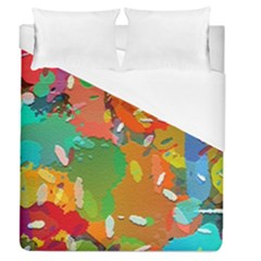 Background Colorful Abstract Duvet Cover (queen Size) by Nexatart