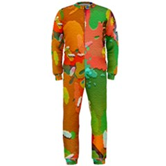 Background Colorful Abstract Onepiece Jumpsuit (men)