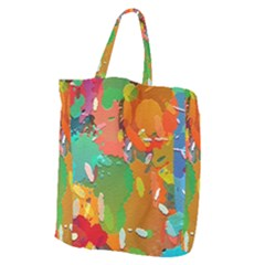 Background Colorful Abstract Giant Grocery Zipper Tote
