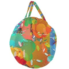 Background Colorful Abstract Giant Round Zipper Tote