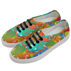 Background Colorful Abstract Women s Classic Low Top Sneakers by Nexatart