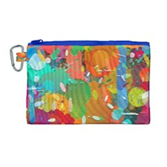 Background Colorful Abstract Canvas Cosmetic Bag (large) by Nexatart