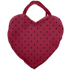 Watermelon Minimal Pattern Giant Heart Shaped Tote by jumpercat