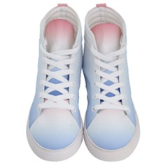 Red And Blue Women s Hi Top Skate Sneakers